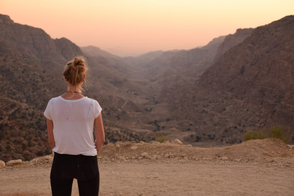 Uitzicht over Wadi Dana