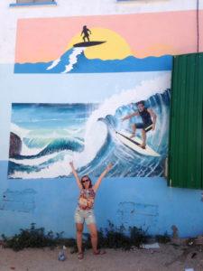 Muurschildering surfen Taghazout