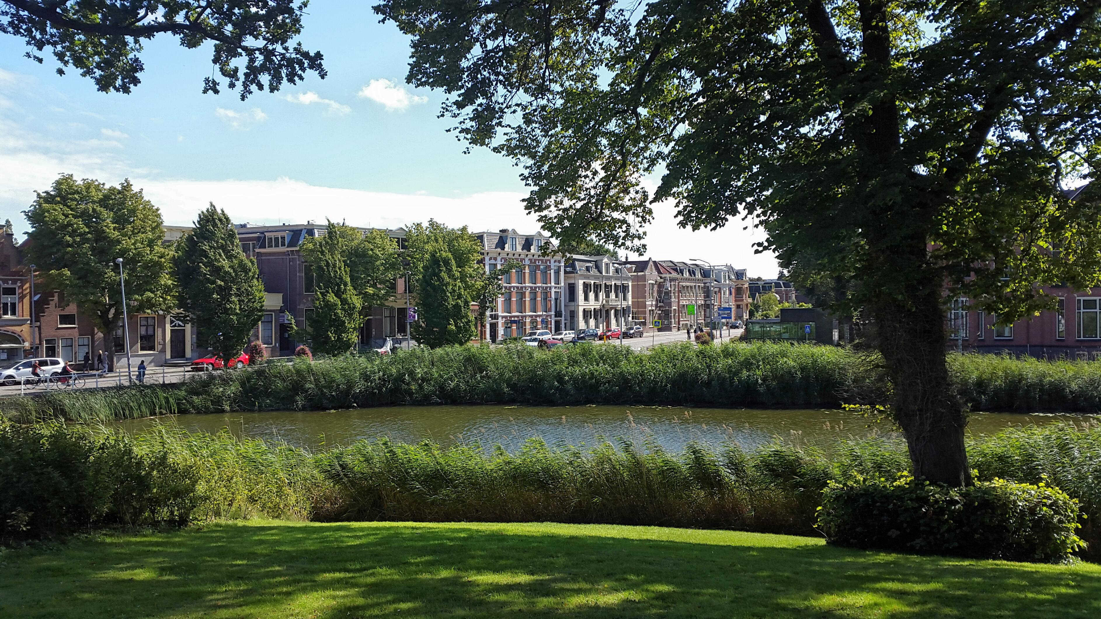 Alkmaar, uitzicht vanuit het park
