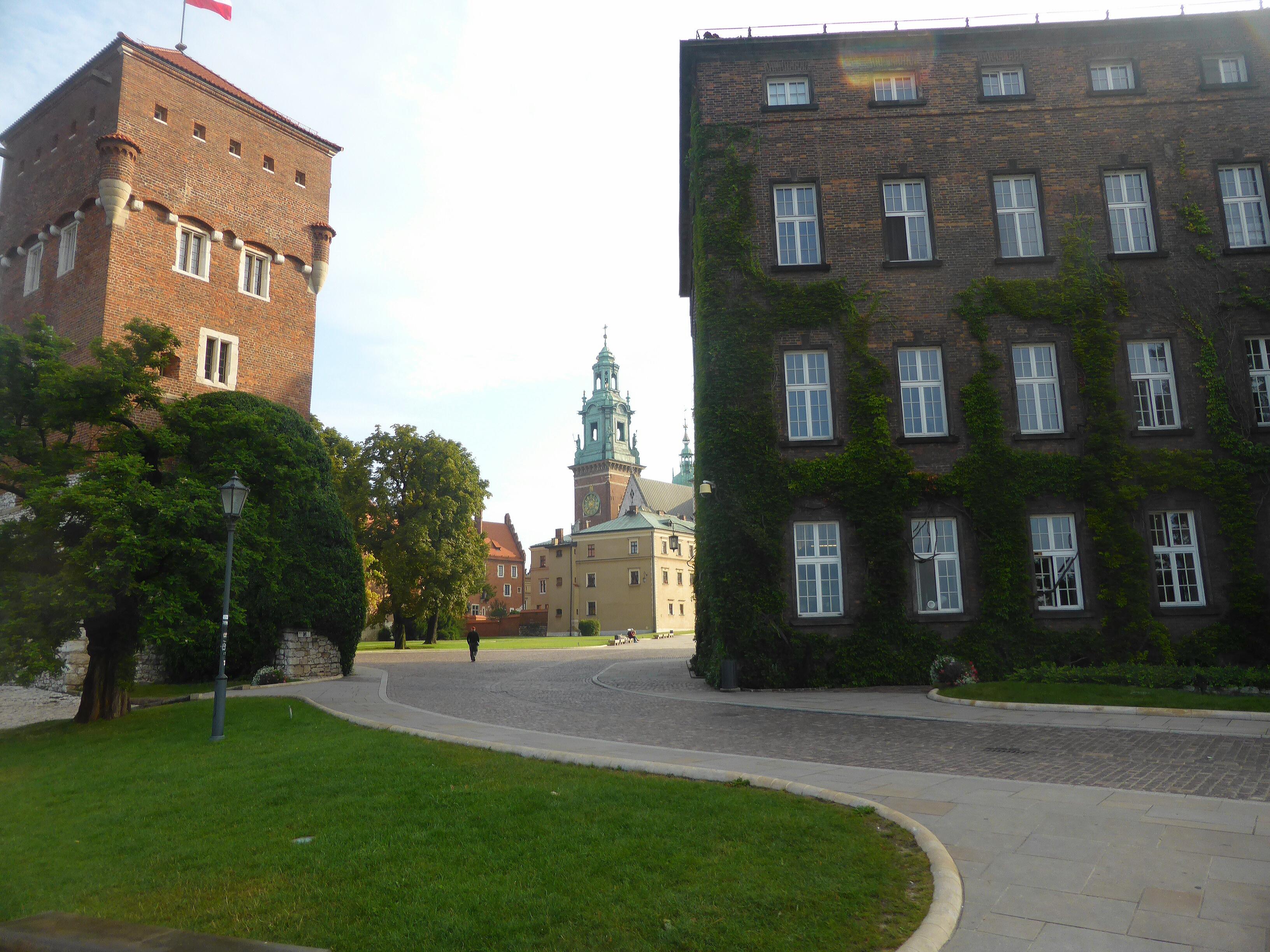 Hardlopen in Krakau, het Wawelkasteel biedt een prachtige aanblik