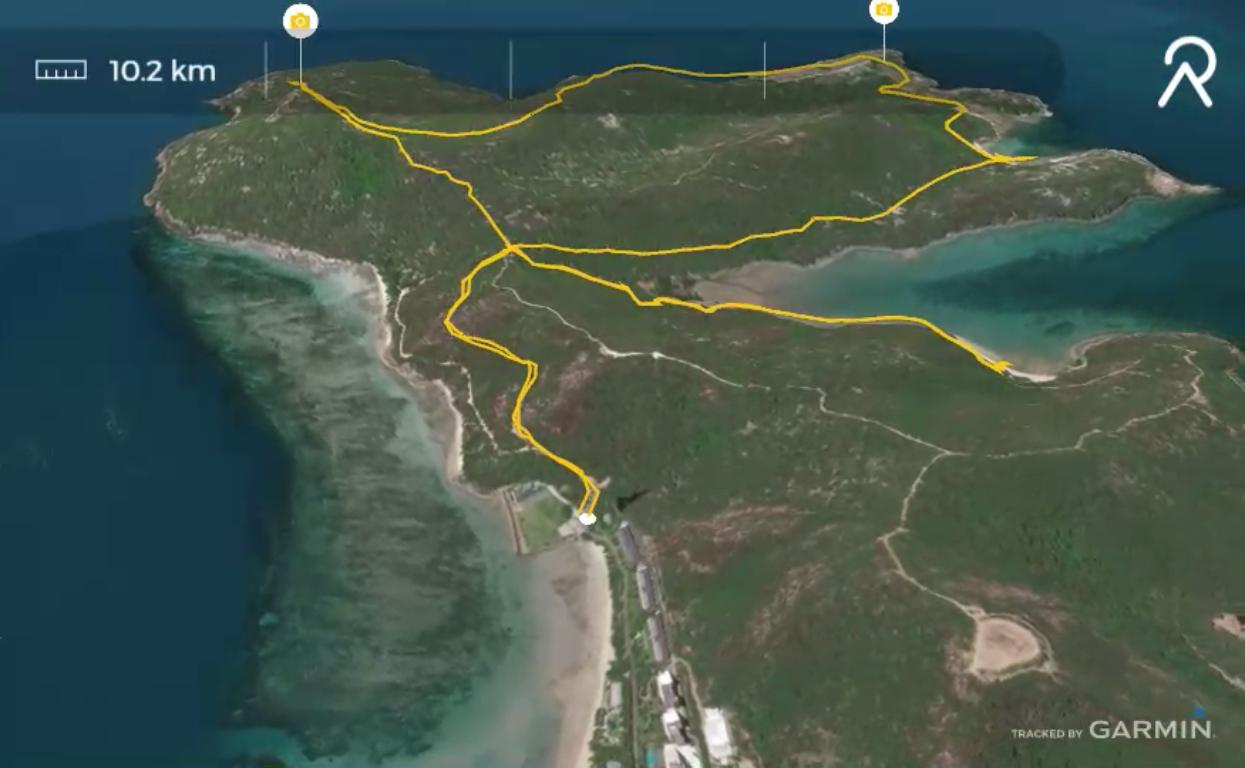 Hamilton Island, the route