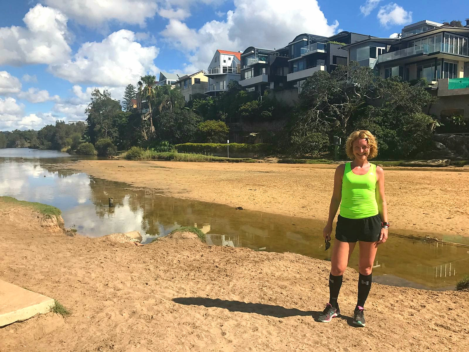 Hardlopen in Manly, de lagoon