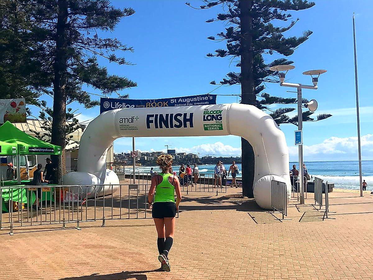 Hardlopen in Manly, the bloody long walk