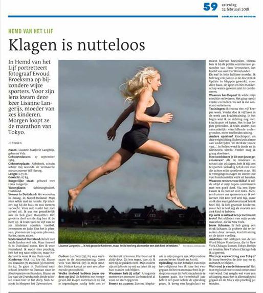 Interview Lisanne Langerijs - Dagblad van het Noorden
