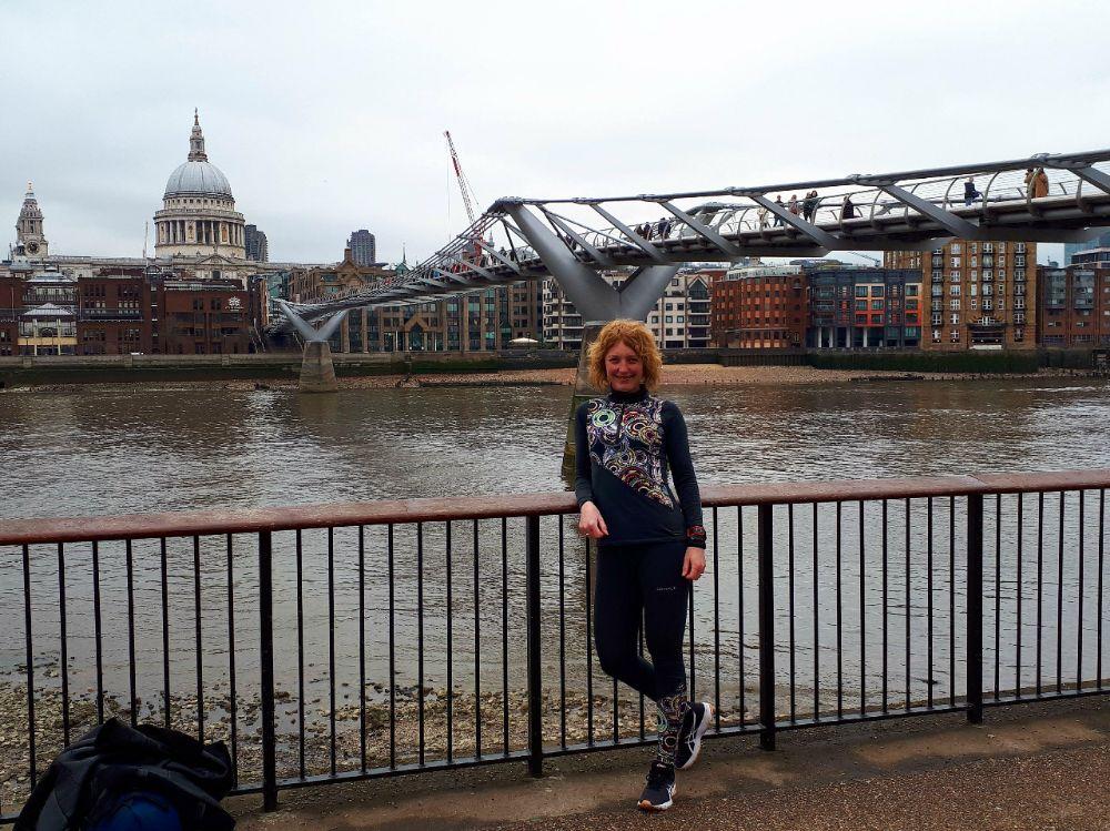 Hardlopen in Londen - Millenium Bridge