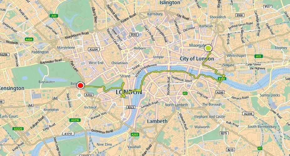 Hardlopen in Londen - route