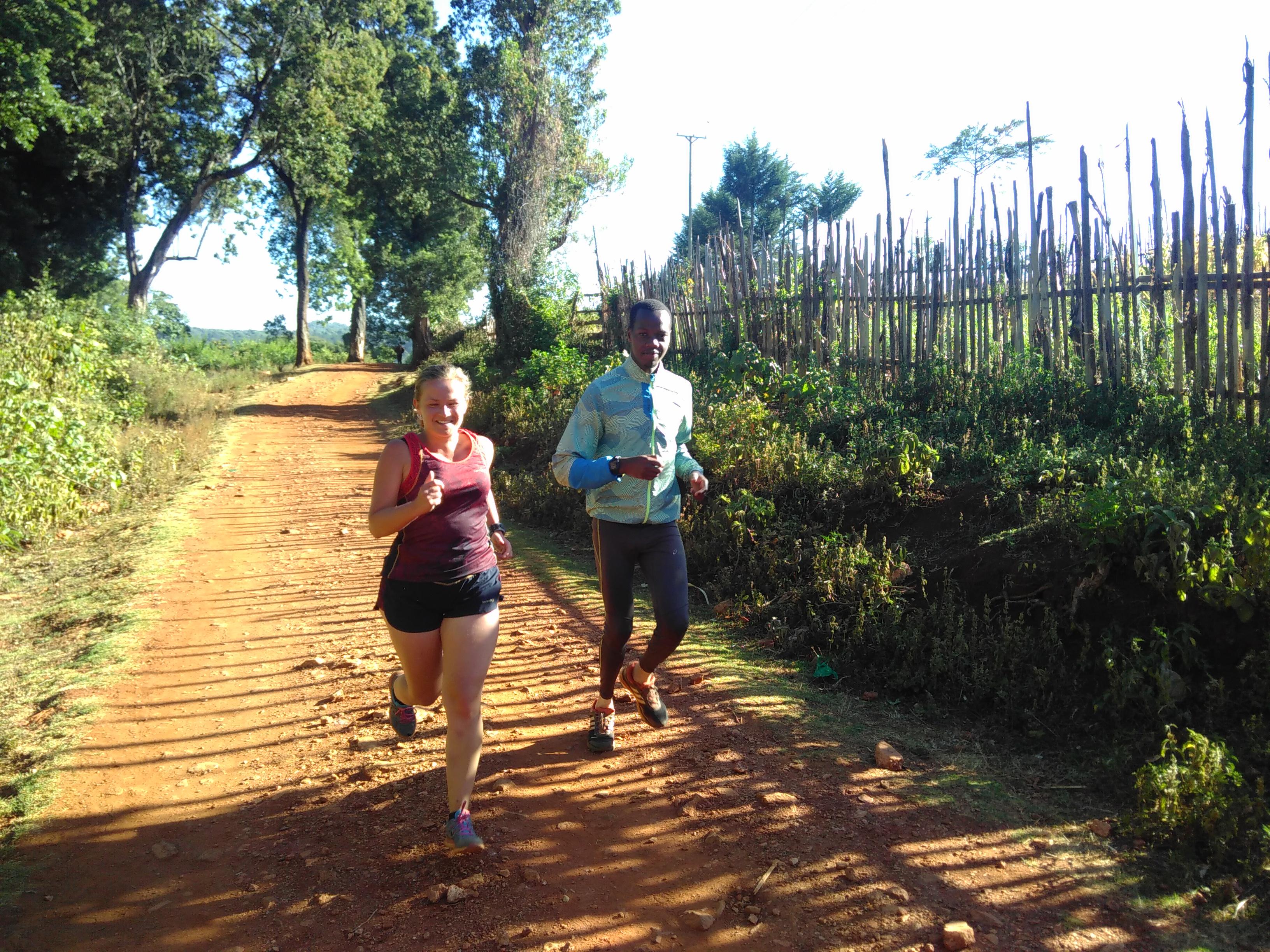Hardlopen in Iten Lornah Kiplagat