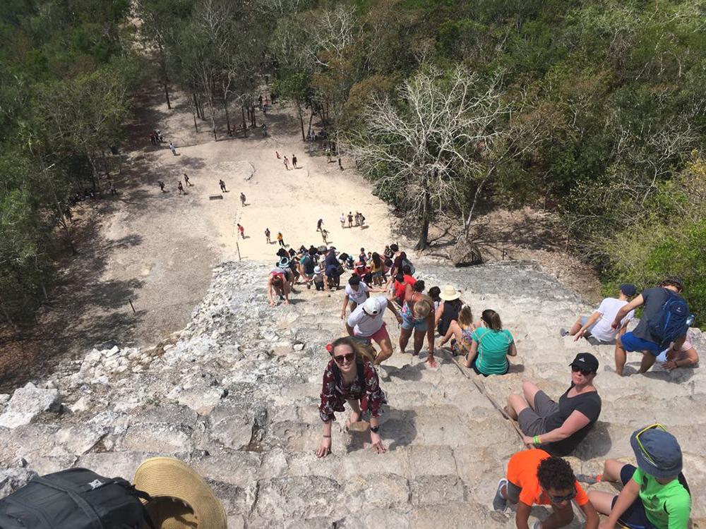 Maya-ruïne Coba Mexico 1