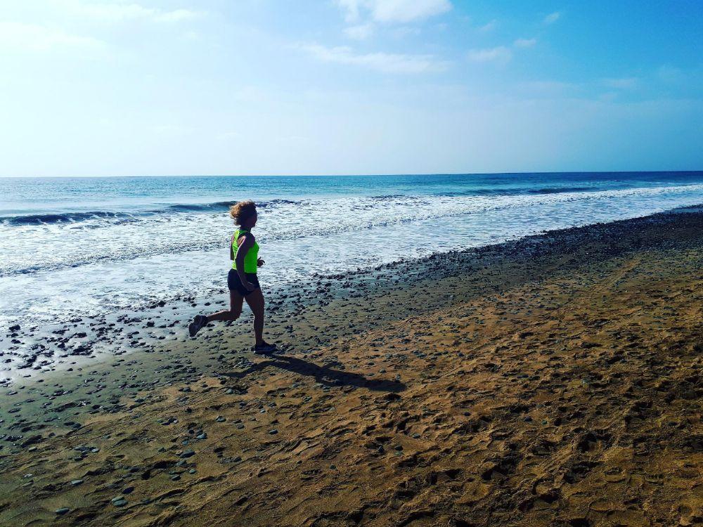 Hardlopen op Gran Canaria, zon zee en strand