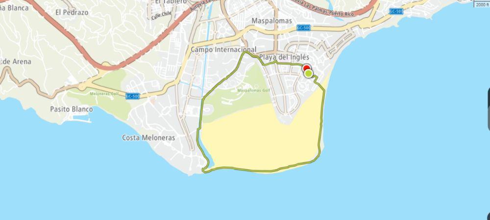 Hardlopen op Gran Canaria, route van tien kilometer