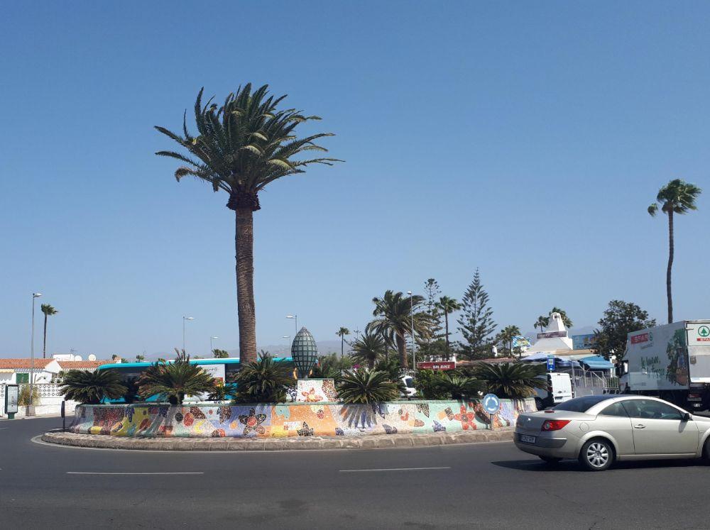 Hardlopen op Gran Canaria, vrolijke rotondes