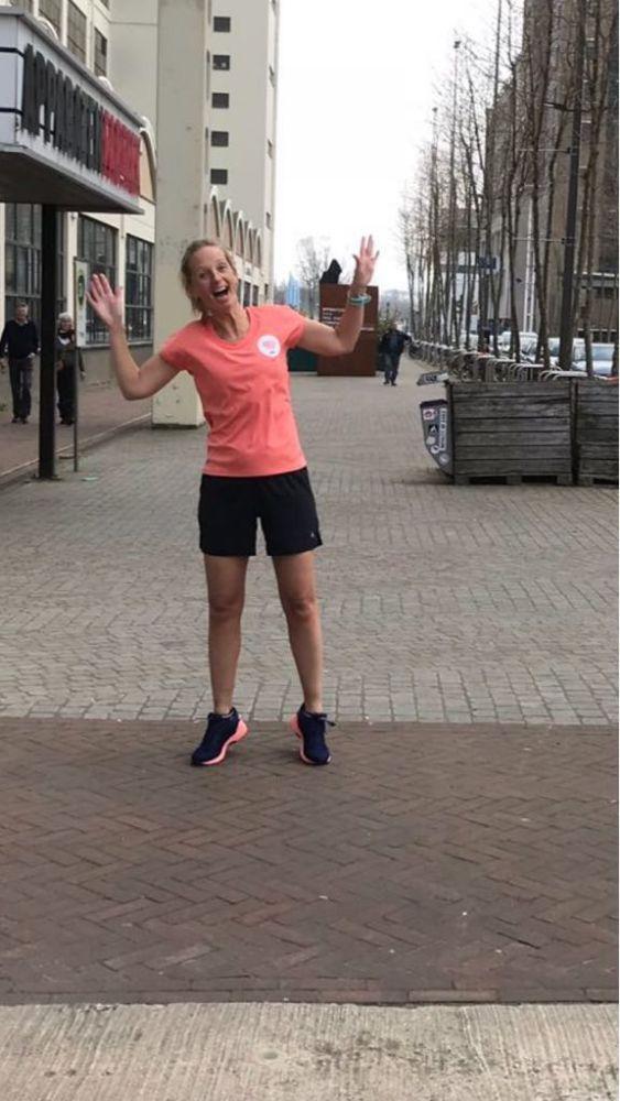 Runninggirl Simone, gewoon een blij ei