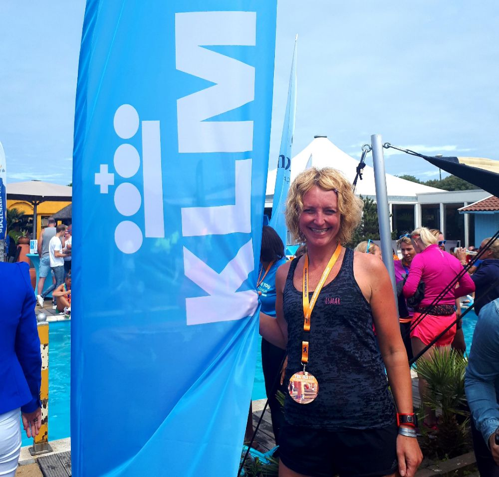 KLM Scheveningen Beach Run - brede glimlach