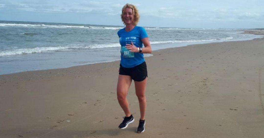 KLM Scheveningen Beach Run - het strand