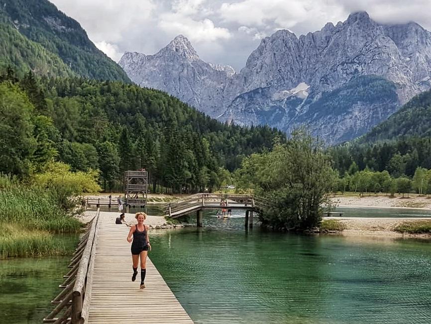 Hardlopen in Slovenië-Lake Jasna