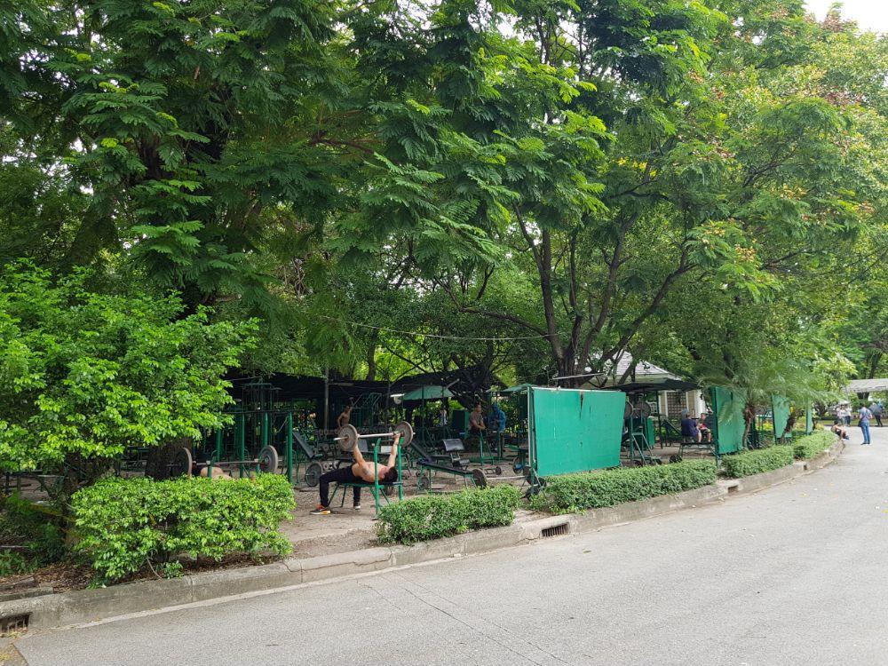 in shape blijven in het Lumpini Park