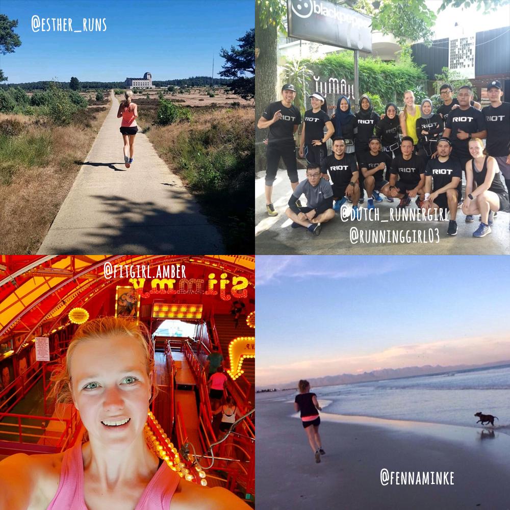 Collage hardlopen buitenland