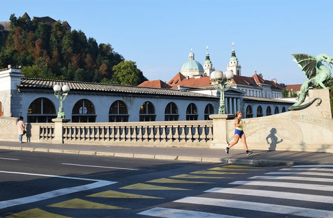 Hardlopen Ljubljana dragon bridge