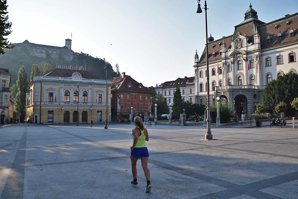 Hardlopen Ljubljana kasteel universiteit