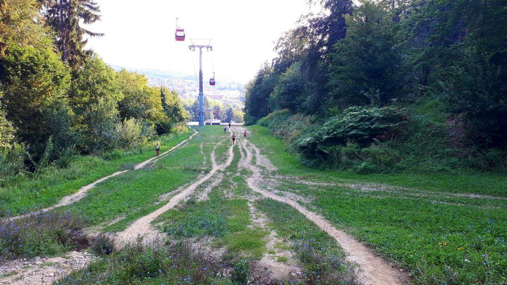 Hardlopen in Pohorje - rennen op de skipiste