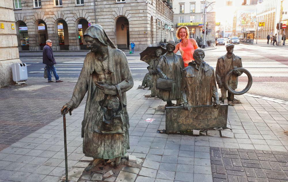 Hardlopen in Wroclaw - anonieme voetgangers