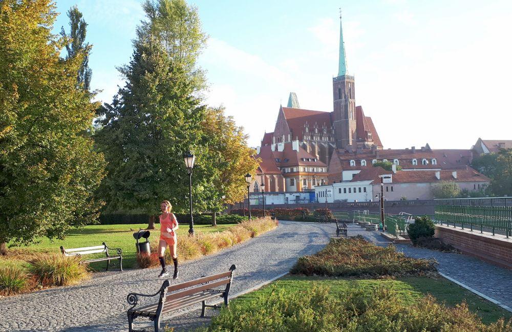 Hardlopen in Wroclaw - uitzicht zandeiland