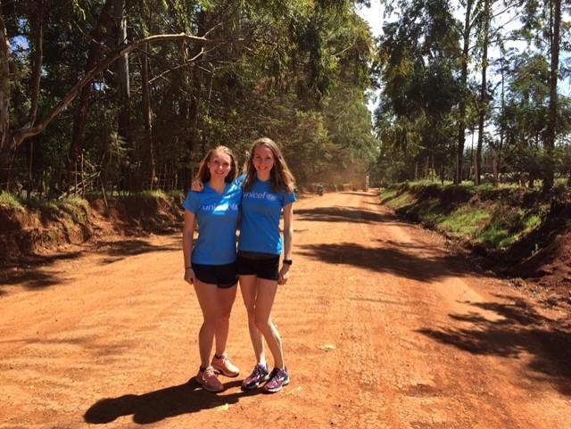 Rift Valley Marathon - vriendinnen Mariska en Marit