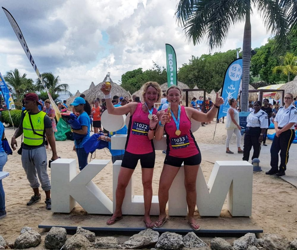 Halve marathon van Curaçao - samen met Femke
