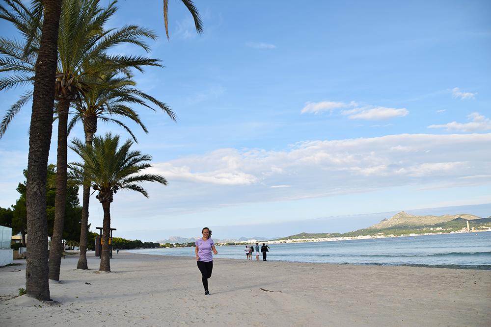 Hardlopen Mallorca strand