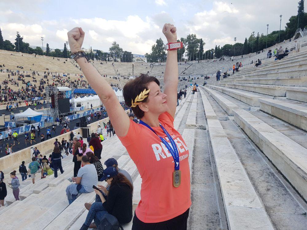 Janneke Poort - marathon van Athene