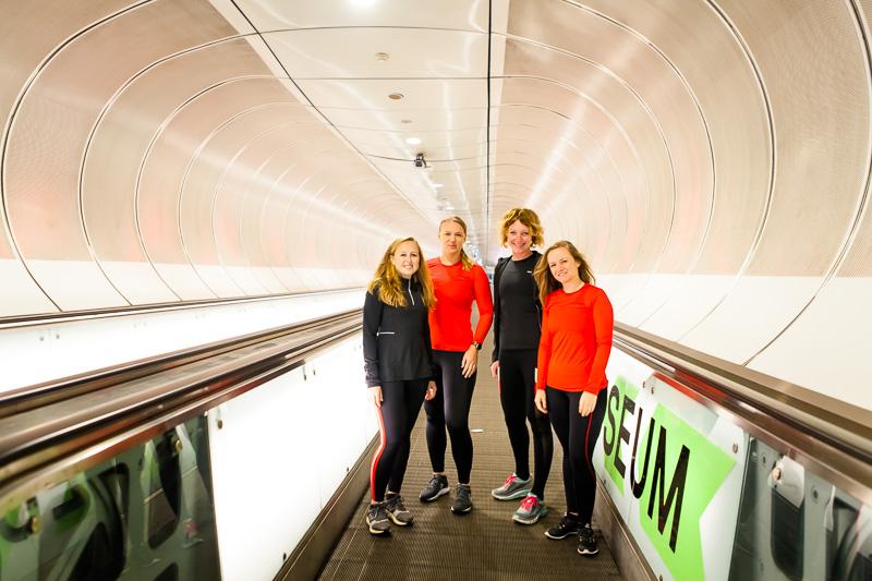 Hardlopen op de Kop van Zuid - metro