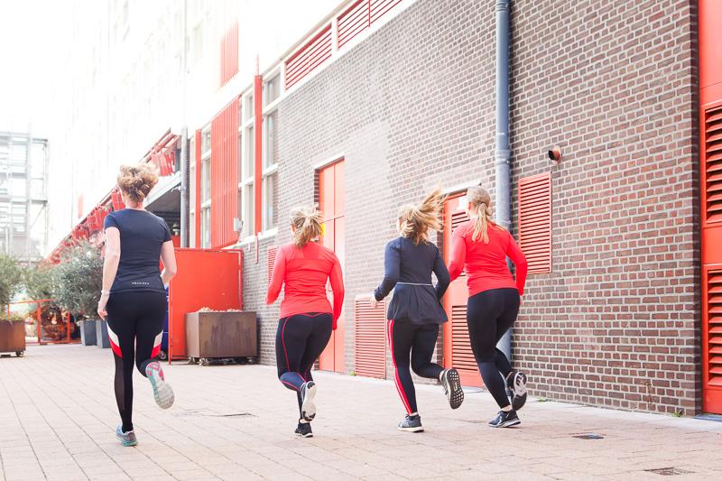 Hardlopen op de Kop van Zuid - rennen langs pakhuizen