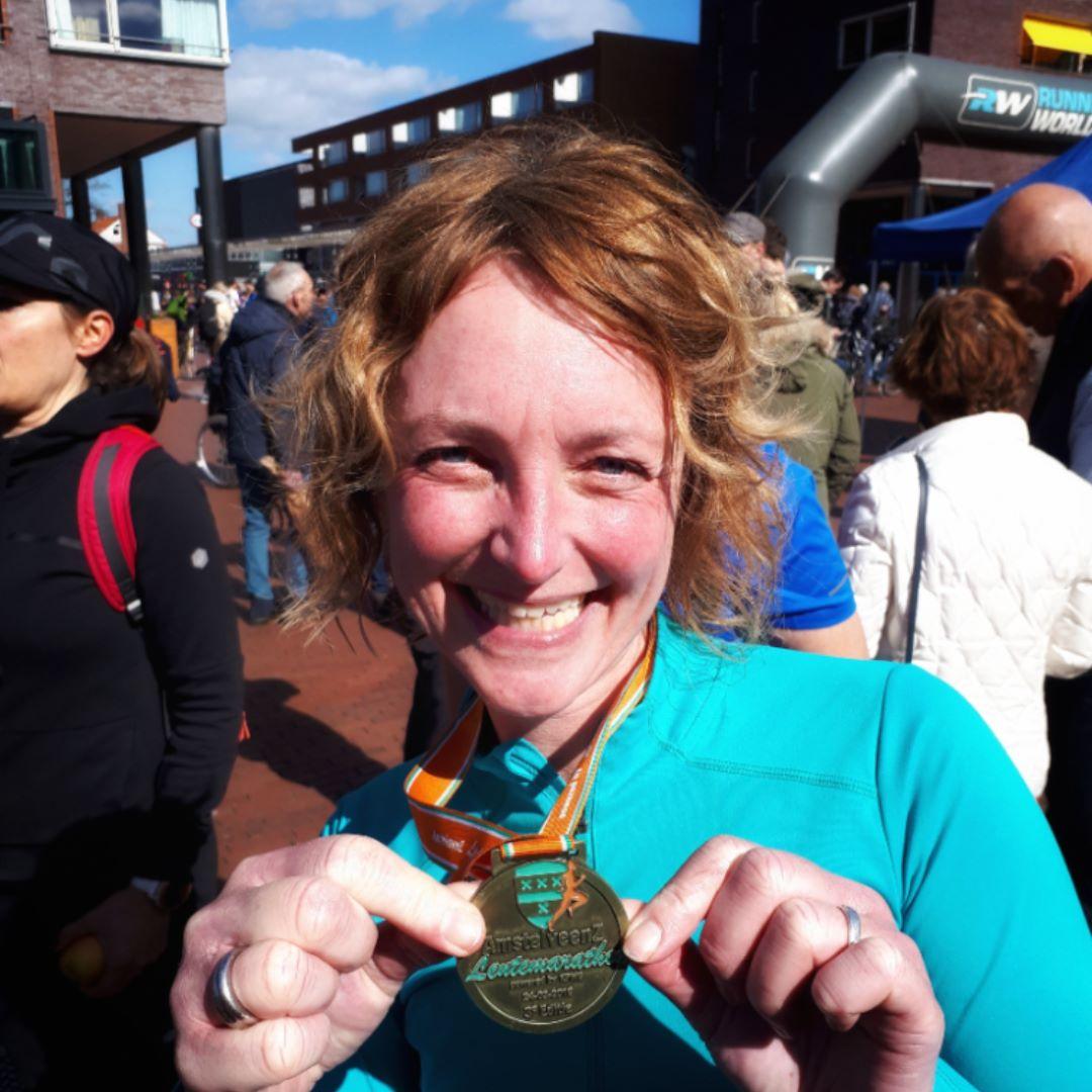 Lentemarathon - PR en medaille
