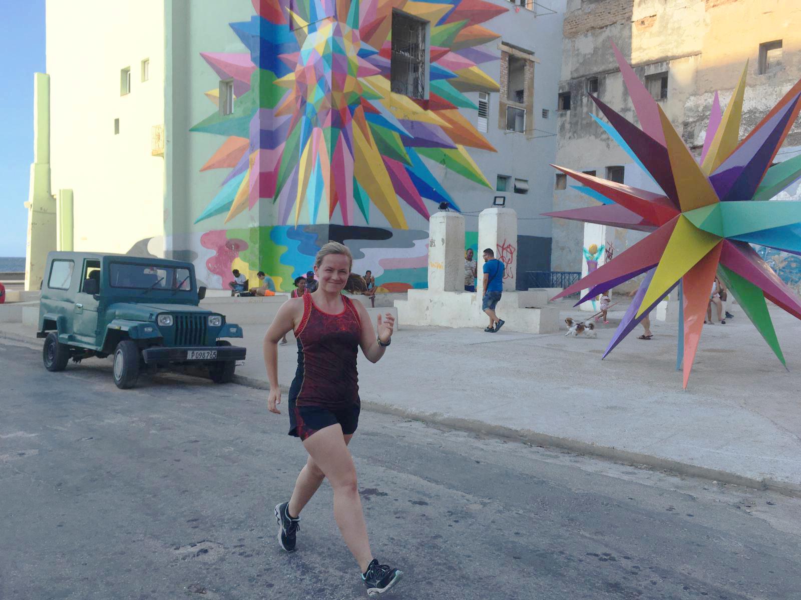 Hardlopen Malecon Havana Cuba