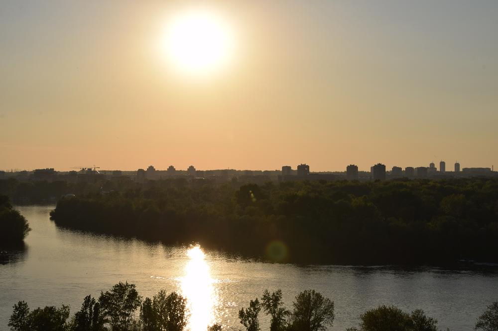 Uitzicht op de rivieren de Sava en Donau kalemegdan fort
