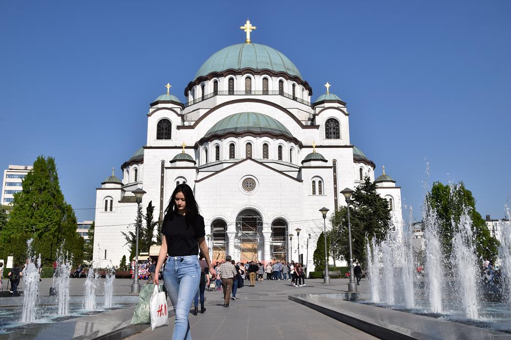 De orthodoxe kerk in Belgrado