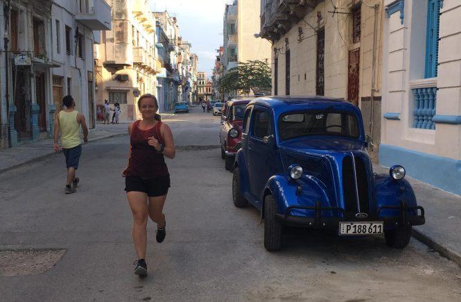 Hardlopen Malecon Cuba Havana