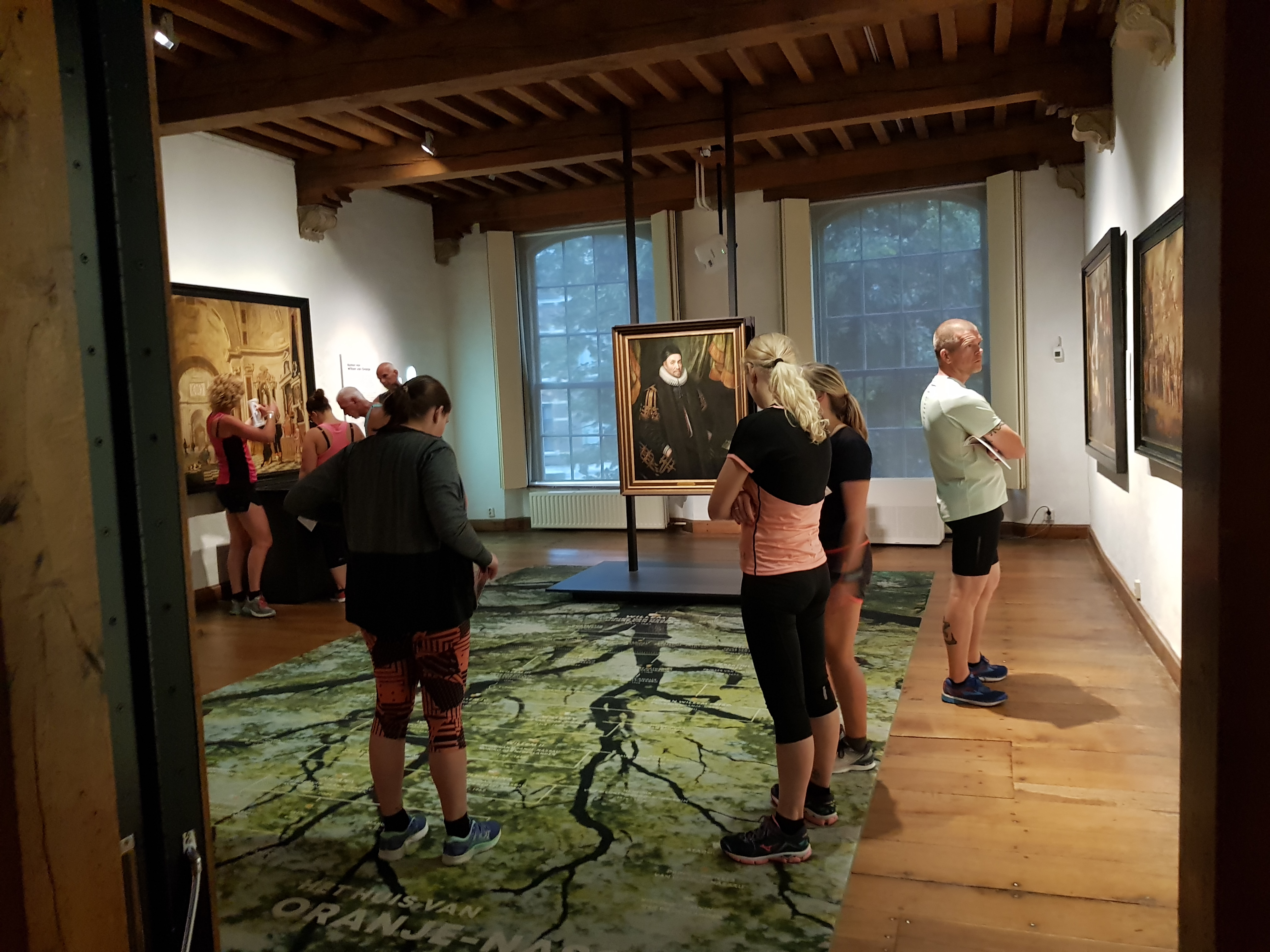 Museum Prinsenhof, hardlopen in Delft