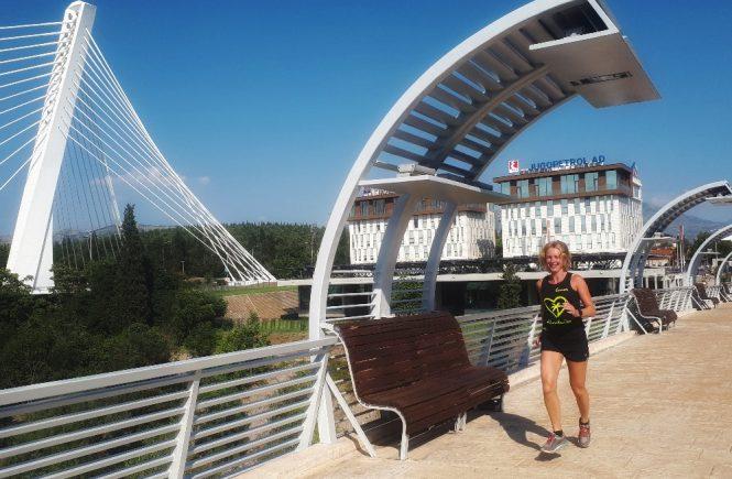 Hardlopen in Podgorica - Millenium-brug