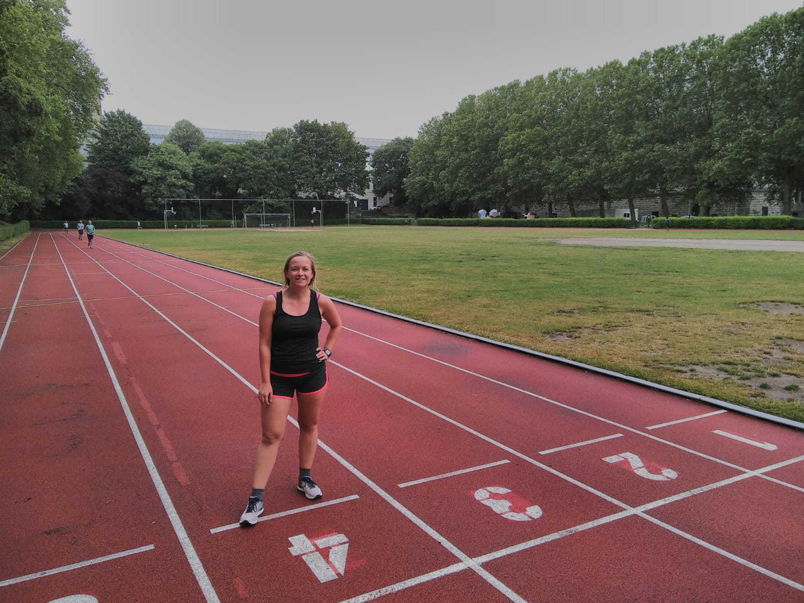 Hardlopen in Brussel jubelpark atletiekbaan