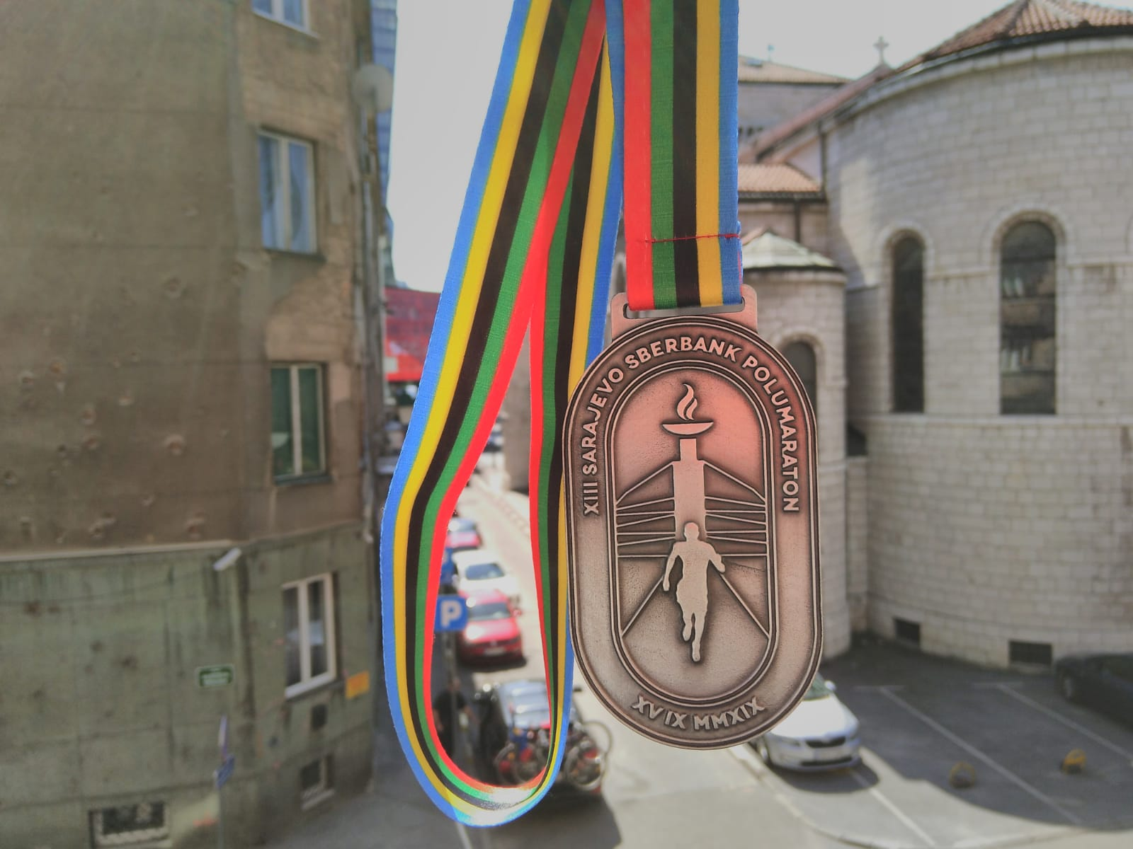 Sarajevo half marathon medaille