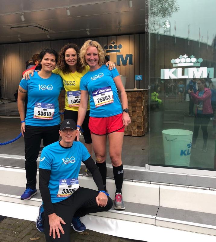 8 kilometer TCS Marathon Amsterdam- Team KLM