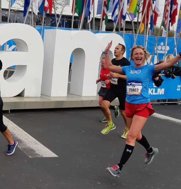 8 kilometer TCS Marathon Amsterdam - finish