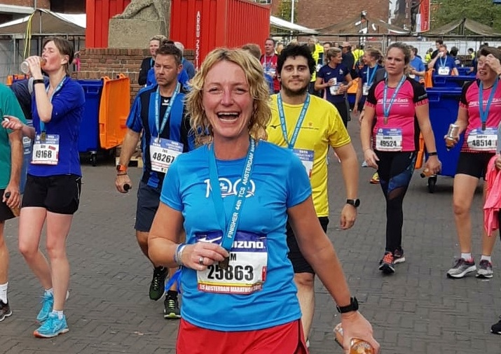 8 kilometer TCS Marathon Amsterdam - medaille