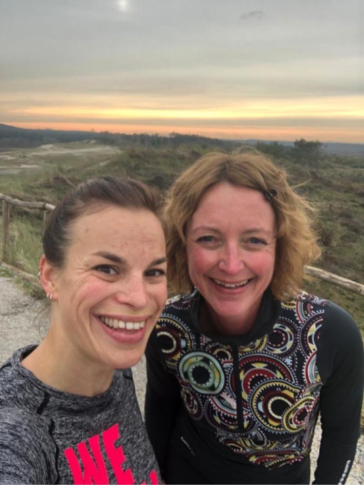 Voorbereiding Groet uit Schoorl Run - Kirsten en Esmar