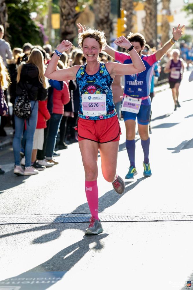 Halve marathon Malaga - Esmar finish