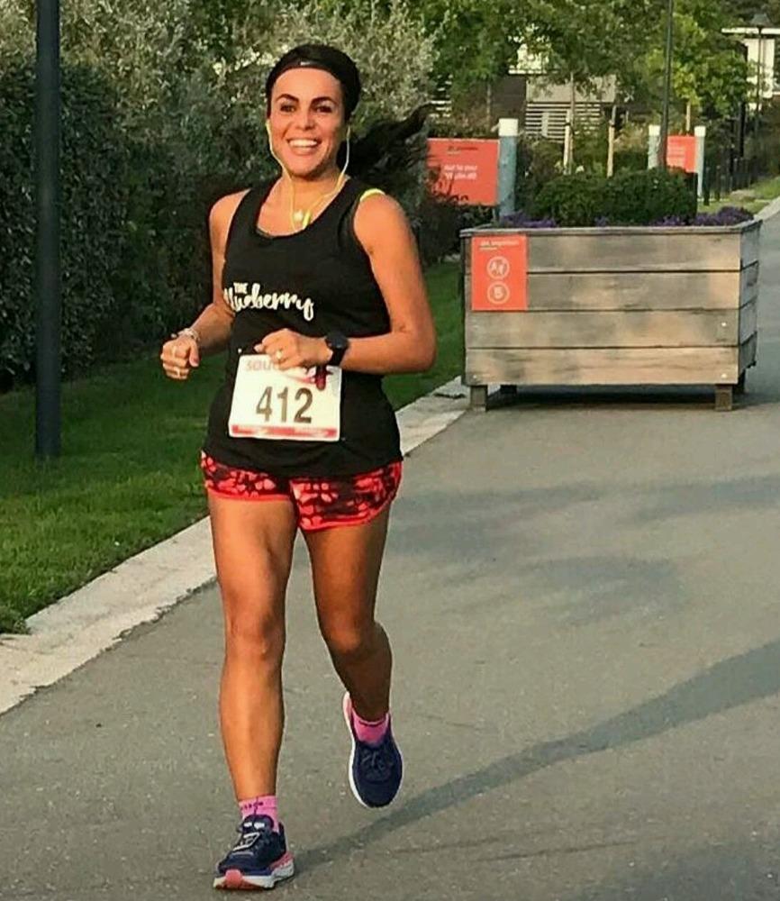 Runninggirl Karen Marcus Bliekendaal